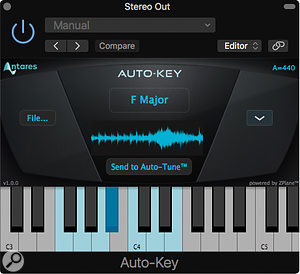 Auto‑Key is a separate plug‑in that can detect the key of your song and inform Auto‑Tune.
