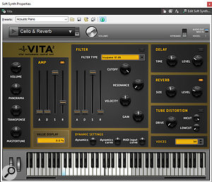 Vita 2 is an effective sample playback instrument.