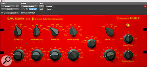 Ruby is an officially authorised recreation of the DW Fearn VT-5 stereo valve equaliser.