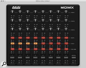 The MIDIMix's delightfully self-explanatory editor software.