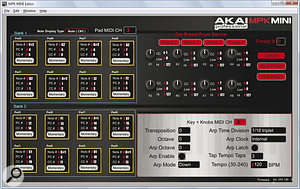 The MPK Mini's editor software can be used to edit and create presets and to set arpeggiator functions.
