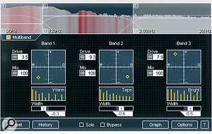 Many of Alloy's processors, including the Exciter, offer multi‑band modes.