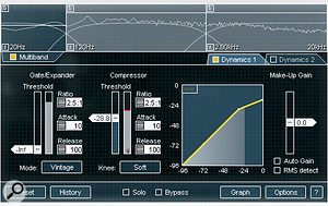 There are two Dynamics modules, each of which can operate in multi‑band mode if required.