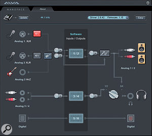 The soon-to-be-released graphical user interface for the Nanoface.