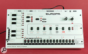 As you can see from the front panel, simplicity is very much the order of the day with the Europa.