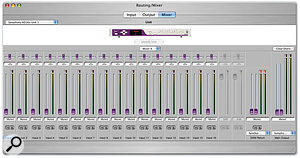 Apogee Symphony:  Maestro provides access to the two hardware mixers on each Symphony PCI card that allow you to create low-latency monitor mixes when recording.