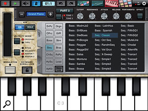 Synth Arp & Drum Pad's arpeggiator offers 342 different and well-labelled patterns,