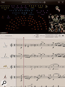 The Orchestra's highly configurable interface allows you to follow the score whilst keeping an eye on the conductor and the musicians.