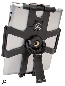 The Ultimate Support HyperPad. The topmost section can be removed to allow you to insert your iPad.