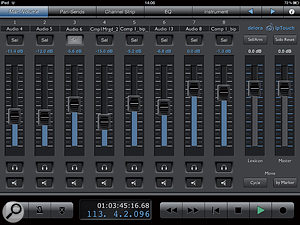 IpTouch's Channel View displays detailed channel settings.