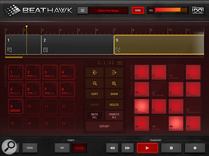 BeatHawk's song mode page.