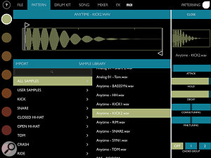 Samples can be swapped without interrupting playback.