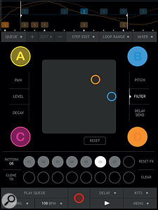 Record filter changes Kaoss Pad-style — for as many tracks as you want.
