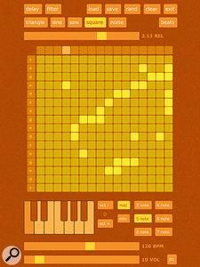 SAMMI's distinctively coloured sequencer screen.