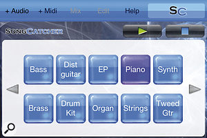 Here are some of the instruments that can be sequenced in SongCatcher, but bear in mind that they aren't 'realistic' recreations.