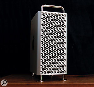 Apple Mac Pro front panel.