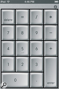 NumberKey turns your iPhone or iPod Touch into a wireless numeric keypad.