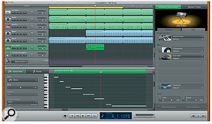 GarageBand '09's new features include a more refined appearance that makes the application clearer for beginners, while nodding in the direction of the professional.