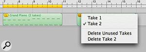 GarageBand '08 even offers Logic 8-style take management.