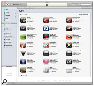 The App Store is accessible via iTunes and makes purchasing iPhone applications easy. At the time of writing there were over 200 music-related applications available.