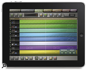 Music Studio from <Link>www.xewton.com</Link>, which is as close as you can get to GarageBand on the iPad, for now...