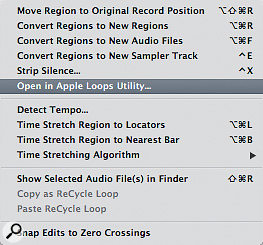 Owners of new Macs who download Logic Pro from the App Store will not have this option in the local Audio menu of the Arrange area.
