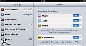 Purchases you make can be automatically downloaded from iCloud to your other devices.
