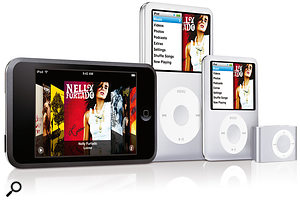 The new iPod family now features a brand-new model, the iPod Touch, which is basically a phone-less iPhone.