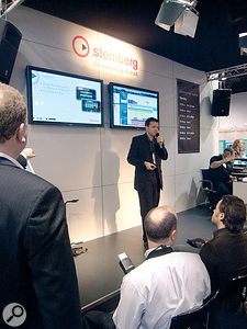 During Steinberg's press conference on the first day of NAMM, senior product planning manager Arnd Kaiser announced Cubase RC, an application for the iPhone that enables Cubase users to remotely control their workstation.