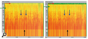 11. Aspectragraph plot of an AIFF file on the left and acompressed format on the right.
