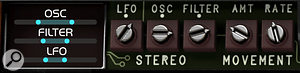 A hidden panel allows you to program a rich stereo soundscape for any sound.
