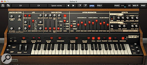 Opening the top panel reveals a  wealth of additional facilities that take Solina V through ARP Polyphonic Ensemble territory, past the Moog Polymoog, and into areas that the original string synth could barely have imagined.