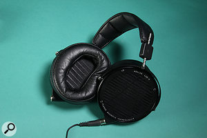 Each earcup on the LCD-X has a  four-pin mini-XLR socket for attaching the cable. With the right headphone amp, the input signal will remain balanced right up to the driver, eliminating crosstalk and inter-channel modulation.