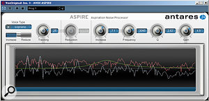 Subtle, but surprisingly effective, Aspire can both add and subtract aspiration noise from a  vocal.