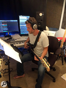 As well as composing, arranging and recording, the author also played electric bass on the album.