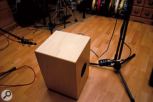 In practice, asimple front and rear two-mic setup can work well.