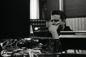 Mark Neill at Muscle Shoals Sound Studios during the making of Brothers.