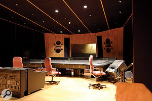 Studio 3 was intended mainly for mixing and overdubbing. Tom Hidley's 'non-environment' control room houses a huge SSL desk.