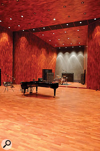 The stunning Studio 1 live room can accommodate a full orchestra with ease.