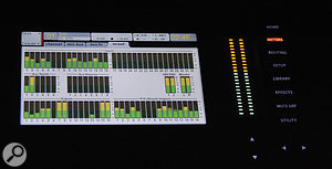 The meter screen on the mixer's menu can show the levels arriving at any of the X32's analogue or digital inputs and outputs, including those on an attached S16 stage box or P16M monitor mixer.