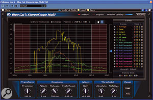 StereoScope Multi displays stereo information for up to 16 tracks simultaneously.