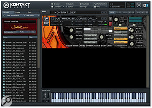 The Digital Model One's Kontakt 2-based interface allows easy access to all of the parameters of the instrument.