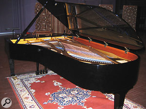 The piano in question: the Blüthner recorded for Digital Model One on the scoring stage of Lucasfilm's Skywalker Sound studio.