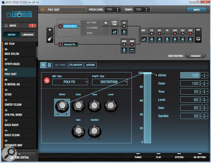 The Tone Studio editing software gives the user much greater control over patch editing than is available via the hardware unit, and offers access to an online library of presets.