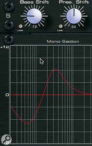 The Bass and Presence Shift controls are described as 'intelligent EQ'; their effects are visible in the graphic display here.