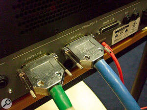 The C24's analogue interfacing uses mainly DB25 multi–pin connectors.