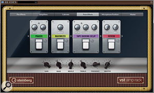 The VST Amp Rack has been overhauled and includes some new plug-ins.