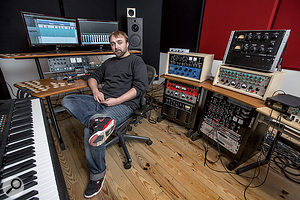 Jan Van Wieringen in his production room at Amsterdam's Electric Monkey Studios.