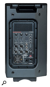 The P1000X has an incorporated three-channel mixer, which can accommodate two mic/line signals plus a  stereo line input (which is internally summed to mono).