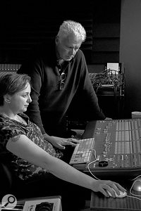 The major new member of the team for the recording of A  Simple Act Of Faith was engineer and Grange Farm Studio owner Isi Clarke (left, with Alan Florence).